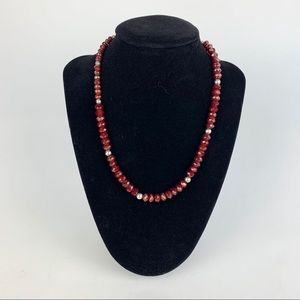 Shero Jewels Ruby & Sterling Necklace
